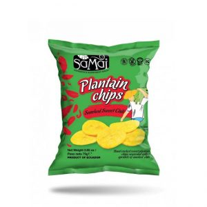 Chips din banane plantain – sweet chilli – Samai – 75 g